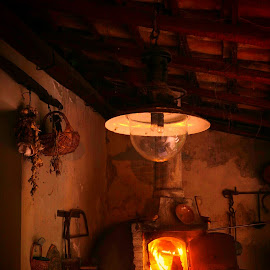 Wood oven by Maurizio Tuccio - Artistic Objects Still Life ( red, colorful, still life, tradition, cooking, furniture, fire )