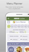 Screenshot of Nestlé Cocina. Recetas y Menús