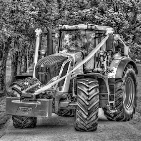 Just married by Benny Høynes - Black & White Objects & Still Life ( hdr, fendt, transportation, tractor, norway )