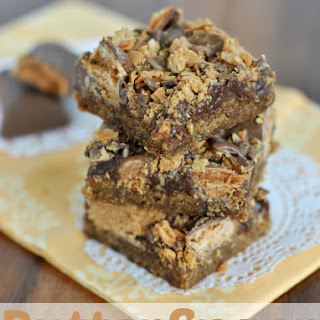 Butterfinger Fudge Cookie Bars