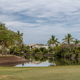 Houses by the golf course by Vibeke Friis - Sports & Fitness Golf ( houses n water, golf club, fiji, denerau )