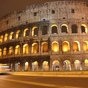 An evening at the Colosseum by Svetlana Joshi - Buildings & Architecture Statues & Monuments