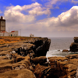 Cape and sea by Gil Reis - Landscapes Waterscapes ( places, ocean, nature, portugal, weather, bio, travel, water, sea, life )