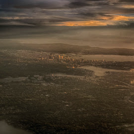 Over Seattle by Pam Cook - City,  Street & Park  Vistas