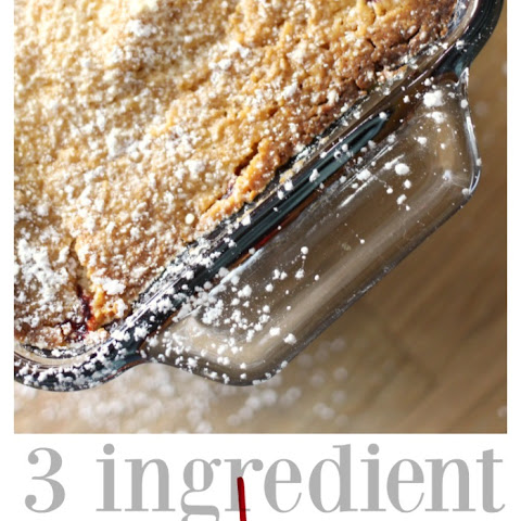 Three Ingredient Raspberry Cobbler