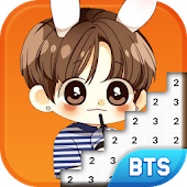 BTS Chibi Pixel Book - Number Coloring Pixel Art - Suwer game...