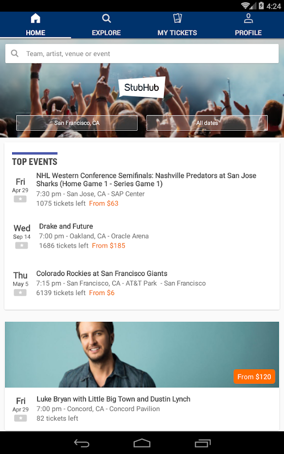 StubHub - Event tickets Screenshot 11