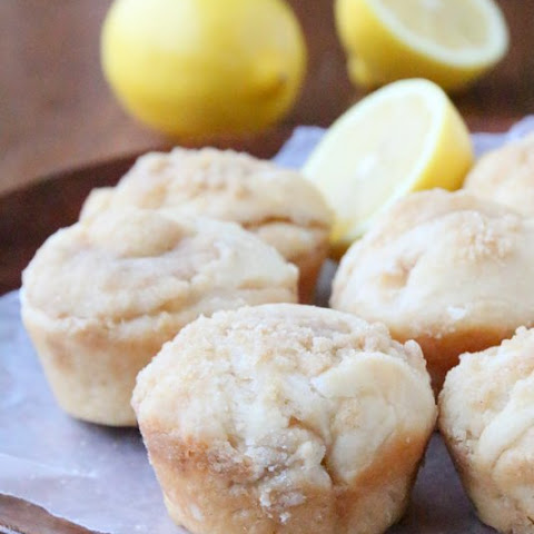 Lemon Streusel Yeasted Coffee Cake Muffins