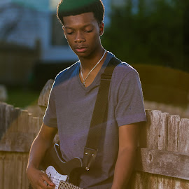 Music at sunset by Gary Duncan - People Musicians & Entertainers ( music, teenager, musician, guitar, portrait,  )