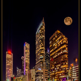 Tampa Florida by James Eickman - City,  Street & Park  Skylines ( city at night, street at night, park at night, nightlife, night life, nighttime in the city,  )