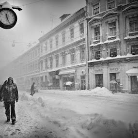 Into the storm by Gospon Fulir - City,  Street & Park  Street Scenes