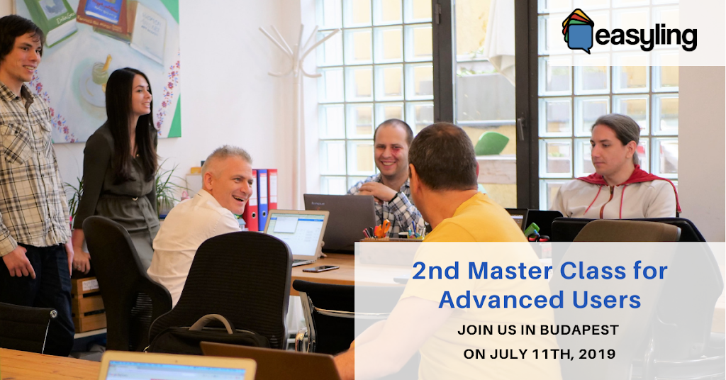 Easyling 2nd Master Class July 11th, 2019