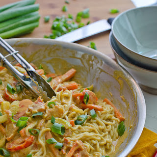 Noodles in a Creamy Peanut Sauce {vegan and gluten free}