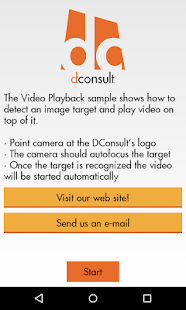 DConsult Virtual Business Card - screenshot