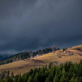 Before The Rain by Jaro Miščevič - Landscapes Weather ( clouds, sky, dark gray, sunlight )