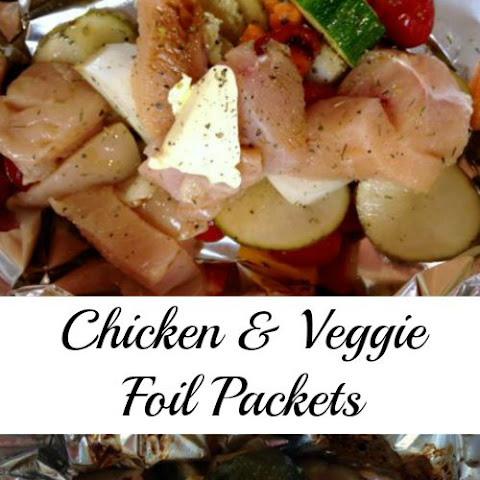 Chicken and Vegetable Foil Packets {Grill or Oven}