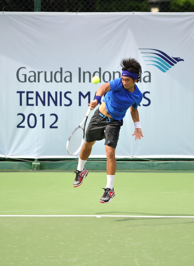 Christopher Rungkat by Andri  Suanto - Sports & Fitness Tennis ( rungkat, christoper, tennis, jump, tenis )