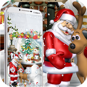 Merry Christmas Santa theme 3D For PC