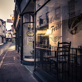 Night on Sun Street by Dan Horton-Szar ARPS - City,  Street & Park  Night ( canterbury, shops, kent, night, sunstreet )