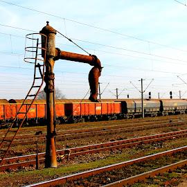 single by Liviu Nanu - Transportation Railway Tracks ( water, trains )