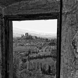 Room with a view by Keith Sutherland - Buildings & Architecture Decaying & Abandoned ( old farm, b&w, abandoned,  )