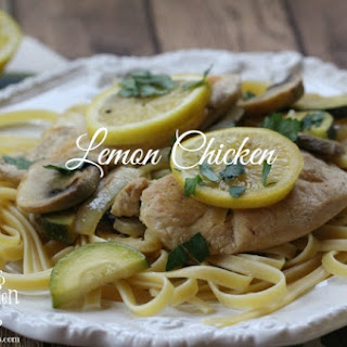 Lemon Chicken with Fettuccine