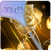 App Golden Rose Zipper Lockcreen 2018: Golden Rose zip APK for Windows Phone