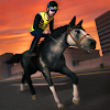 3D Police Horse Racing Extreme