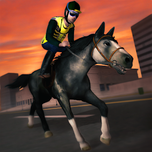 Cover art 3D Police Horse Racing Extreme