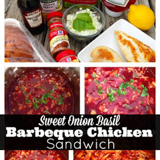Pulled Chicken Sandwiches with Sweet Onion Basil Barbeque Sauce