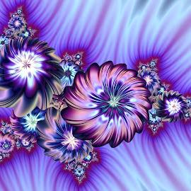 Flower arrangement  by Cassy 67 - Illustration Abstract & Patterns ( wallpaper, digital art, flowers, fractal, digital, fractals, floral, flower )