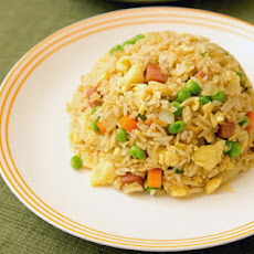 Curry Fried Rice with Spam (Adapted from Uni Homemaker)