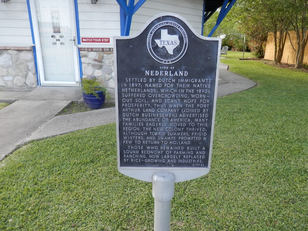 Settled by Dutch immigrants in 1897; named for their native Netherlands, which in the 1890s suffered overcrowding, worn-out soil, and scant hope for prosperity. Thus when the Port Arthur Land Company ...