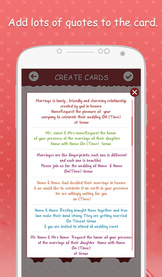 Wedding Invitation Cards Screenshot