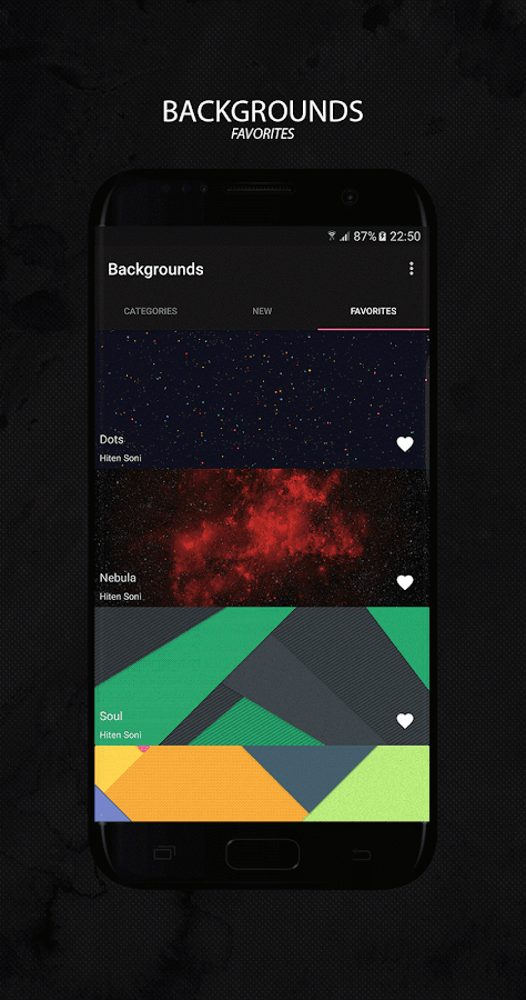 Backgrounds - Wallpapers Screenshot 2