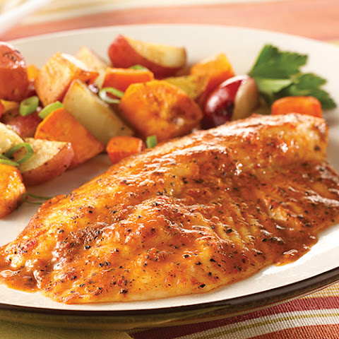 Simply Bake Tilapia with Roasted Vegetables