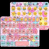 Pink Art Emoji keyboard Theme APK for Bluestacks