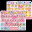 APK App Pink Art Emoji keyboard Theme for iOS