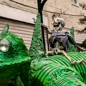 Let's Ride! by Frank Matlock II - Public Holidays Halloween ( costumes, lizard, decorations, skeleton, props, halloween )