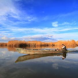 Boat by Necdet Yaşar - Transportation Boats ( lake, landscapes, boat )