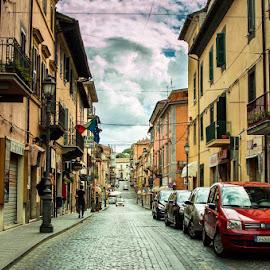 Bracciano  by Bianca Enache - City,  Street & Park  Street Scenes ( italia, street, travel )