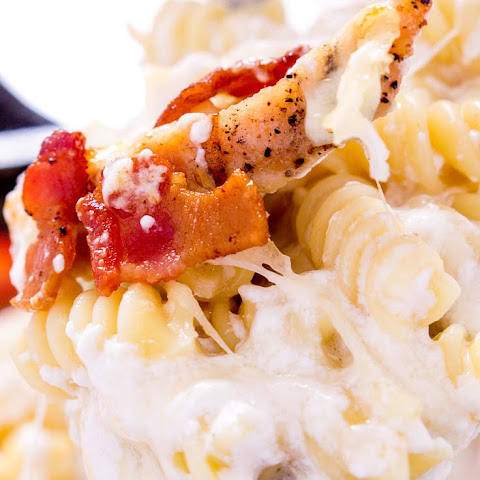 Creamy Bacon Rotini Bake