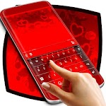 Stylish Red Love Keyboard Icon