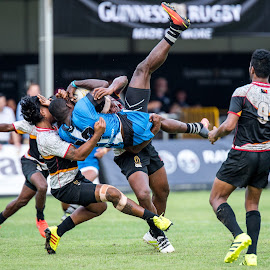 TakeDown by Daniel Chua - Sports & Fitness Rugby ( work, takedown, 7s, fight, event, sports, power, pain, rugby, photography )