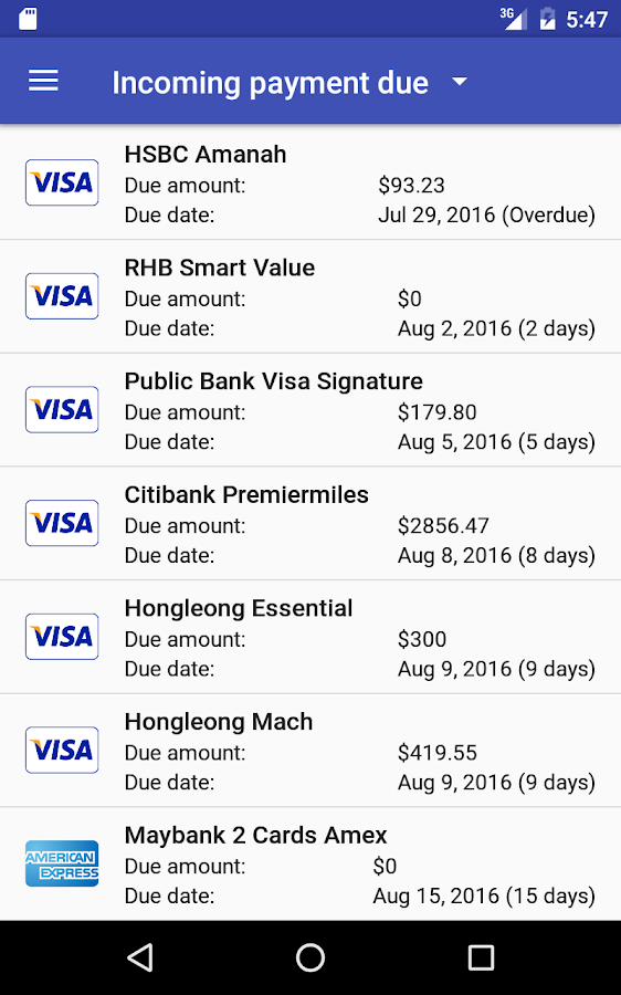 Credit Card Manager Pro Screenshot 12