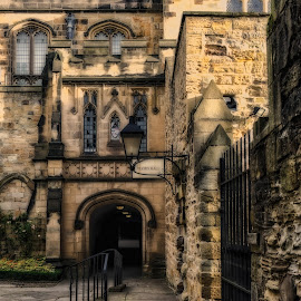 Prior's Hall by Adam Lang - Buildings & Architecture Architectural Detail ( durham, church, stone, prior's hall, cathedral, steps, gate )