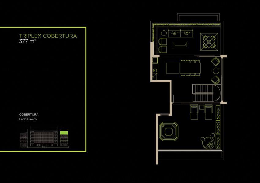 Apto Cobertura Triplex (31B) - 377 m² - Piso Superior