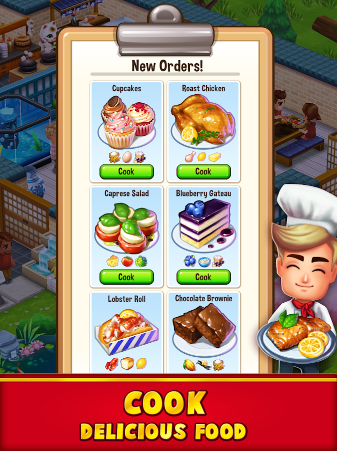 Food Street - Restaurant Management & Cooking Game Screenshot 1