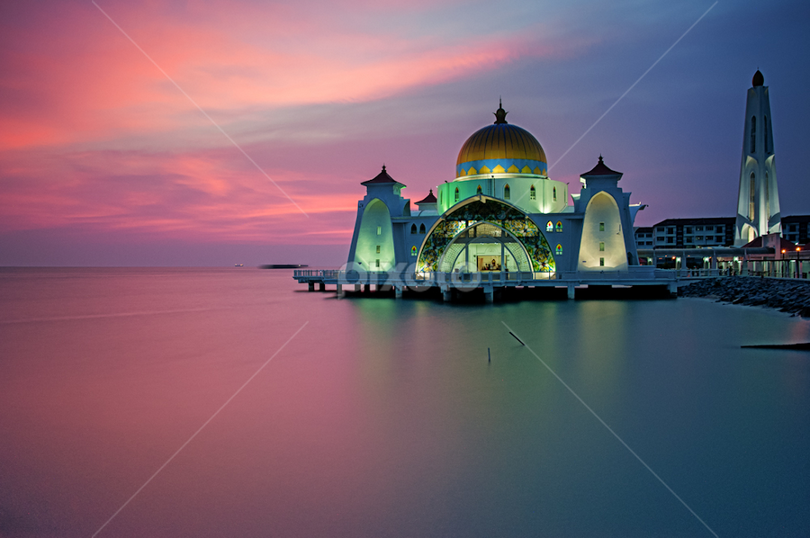 Selat Mosque by Azri Suratmin - Travel Locations Landmarks ( famous landmarks )