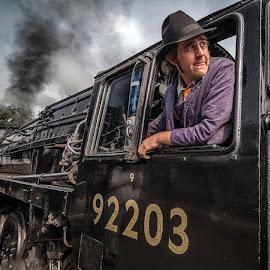 Smoke and Steam by Ian Pinn - Transportation Trains ( engine, norfolk, train, driver, shunting, sherringham )